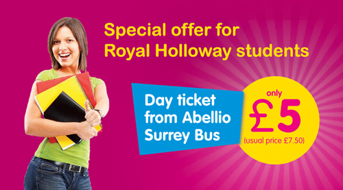Abellio Surrey Buses Special Deal for University Students