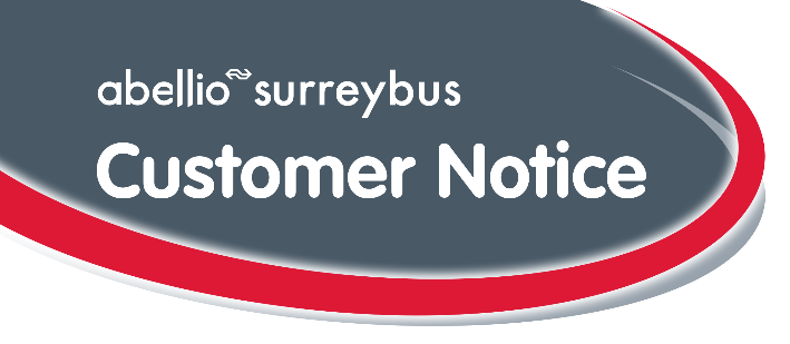 Revised Surrey Bus Route from 31/12/2016
