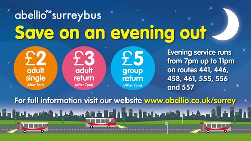 New flat rate bus fares for an evening out