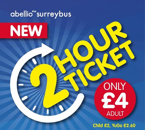 Abellio surrey introduces new two hour bus ticket