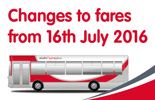 Fare changes July 2016